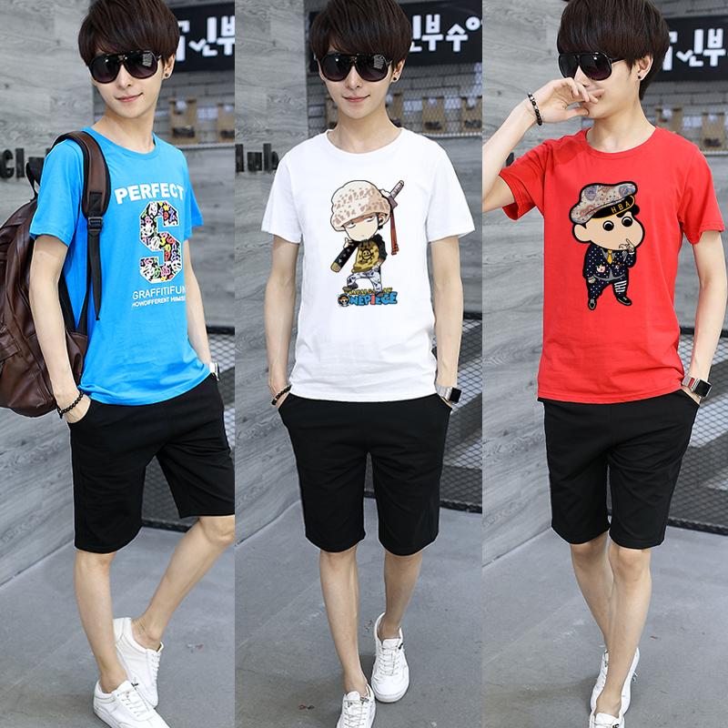 青少年短袖T恤10-12-15岁夏装13件套男孩一学生14大童两初中套装