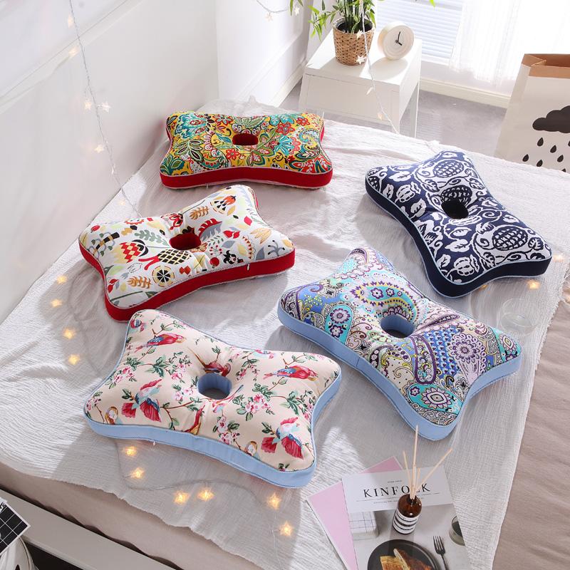 全棉粗布荞麦壳枕芯 护耳荞麦皮保健枕头 助睡眠养生护颈椎荞麦枕