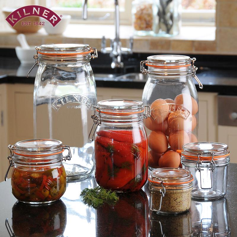 英国Kilner密封罐玻璃储存泡菜腌制瓶子柠檬蜂蜜罐燕窝青梅杨梅酒