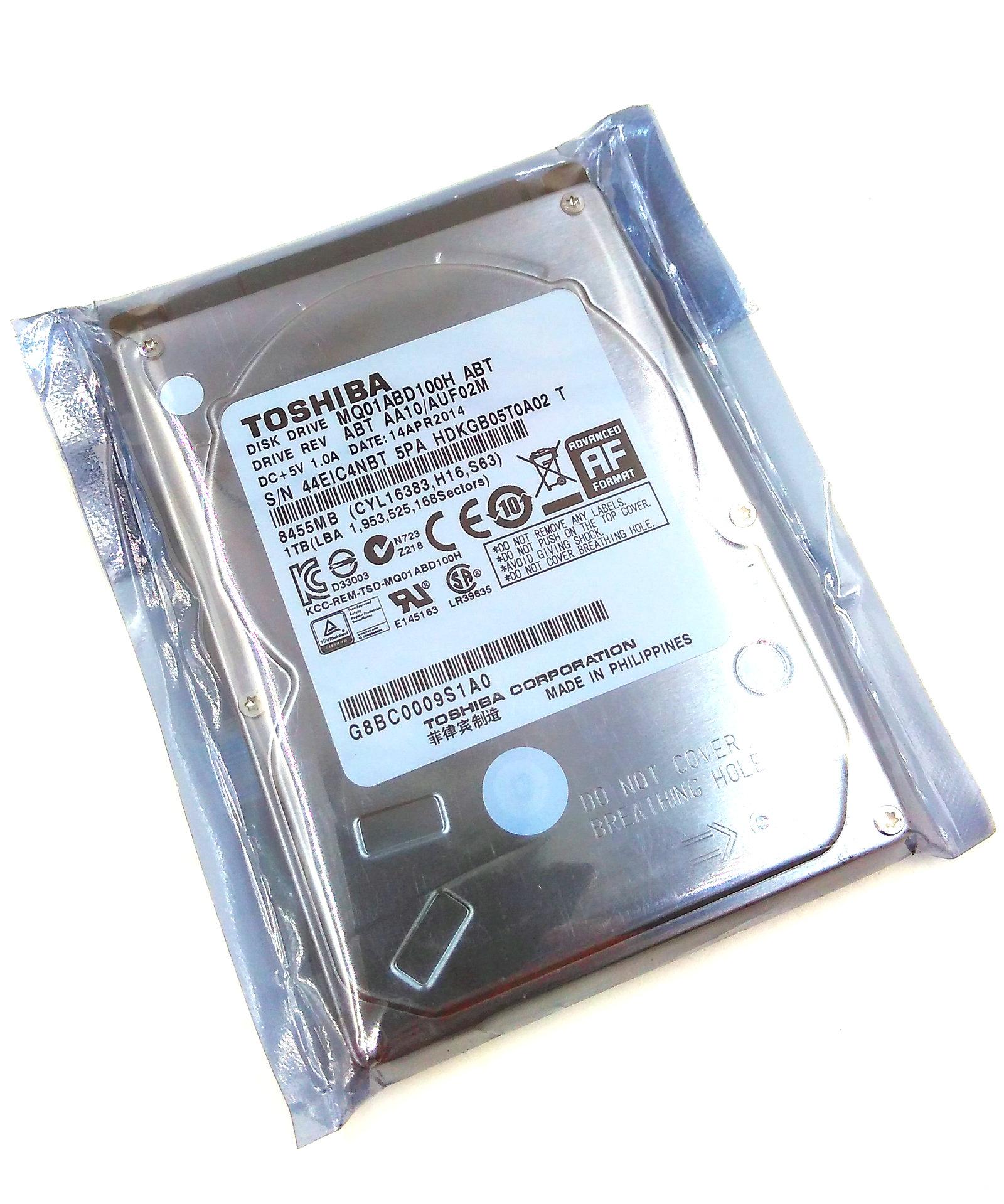 """Toshiba 1TB MQ01ABD100H 32MB 8GB SATA 2.5/"""" SSHD Solid State Hybrid Hard Drive"""