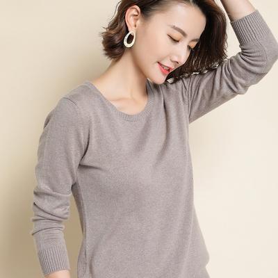 秋冬毛衣女19新款时尚外穿韩版洋气学生针织衫打底短款配裙子圆领
