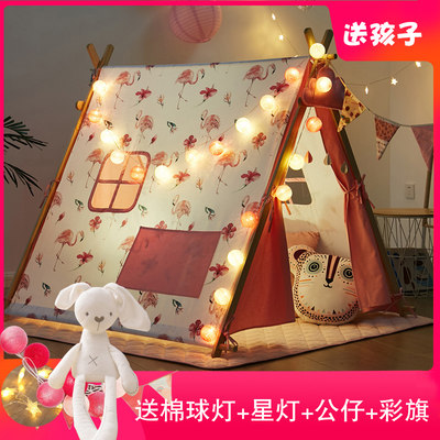 Nordic ins children's small tent indoor princess girl baby home bed can sleep game house reading corner