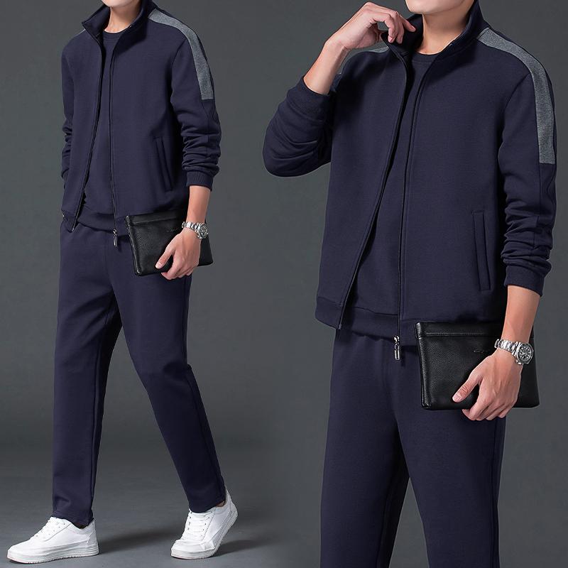 【送爸爸】三件套中老年父亲休闲运动服套装