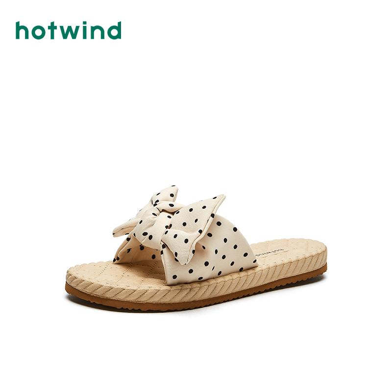 热风女士夏季21年新品一字拖凉拖时尚拖鞋H62W1681(【热风】女士21年新品时尚拖鞋)