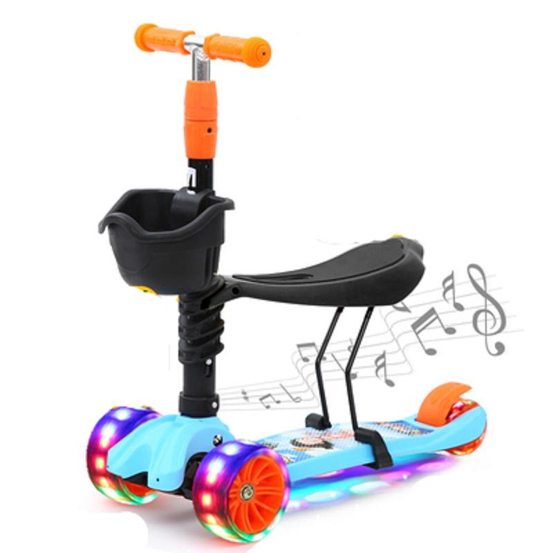 瑞士儿童滑板车自行车溜溜车三轮车四轮闪光跑马灯_领取40元淘宝优惠券