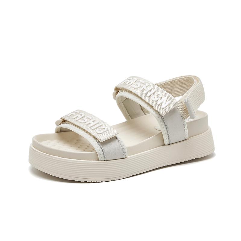华耐厚底凉鞋女仙女风2021年新款夏季网红夏季鞋子休闲运动女凉鞋(2021年新款夏季网红夏季鞋子学生运动女)