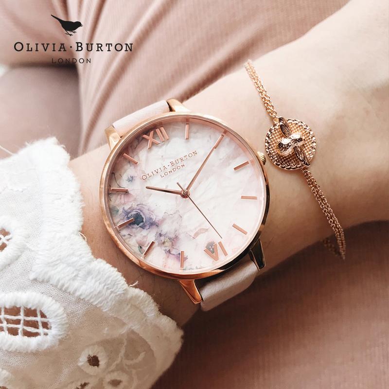OliviaBurton樱花手表,送给女友生日礼物