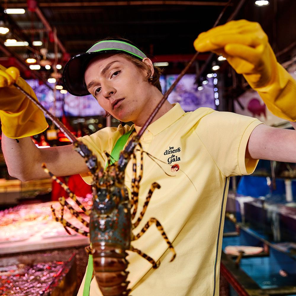 马克华菲 Mark Fairwhal 纯棉 小龙虾刺绣 男式POLO衫 双重优惠折后¥54包邮