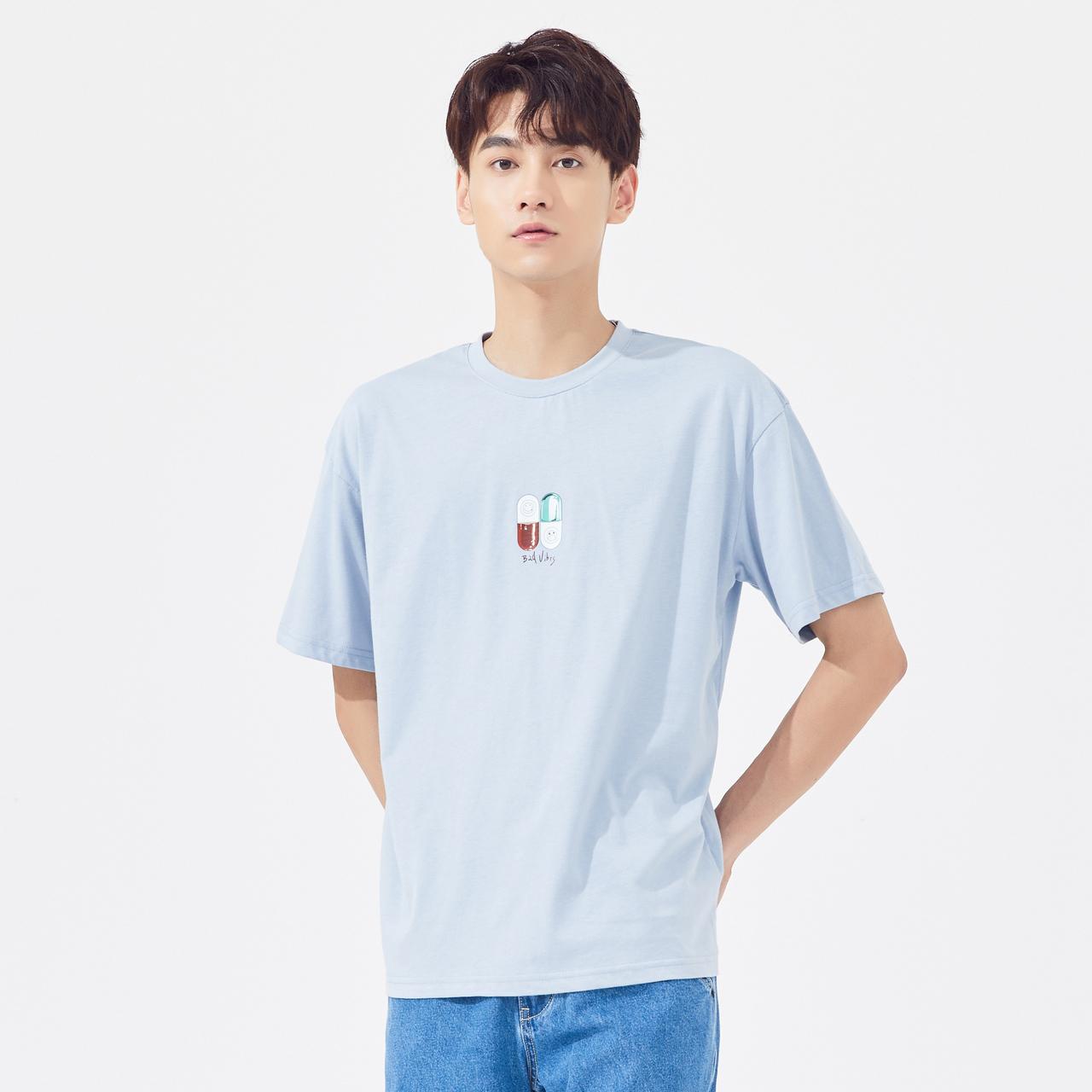 [100元3件]美特斯邦威短袖t恤男潮流2020新款夏季纯棉圆领上衣男