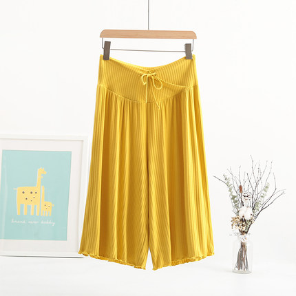Pregnant women pants cropped leggings loose wide-leg pants fashion casual shorts low waist summer thin section wear summer