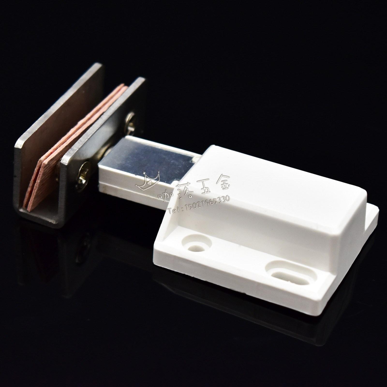 包邮单门不锈钢玻璃磁碰磁夹玻璃开关玻璃柜吸门吸磁吸碰珠柜门夹