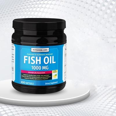 FitnessLabs肌魔实验室 深海鱼油omega-3 DHA补脑增强记忆力老人