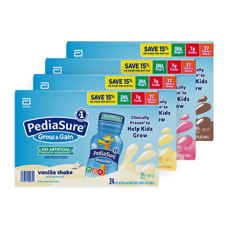 雅培美版小安素水奶幼儿童液态奶即饮液体2-13岁237ml*24瓶彩箱装