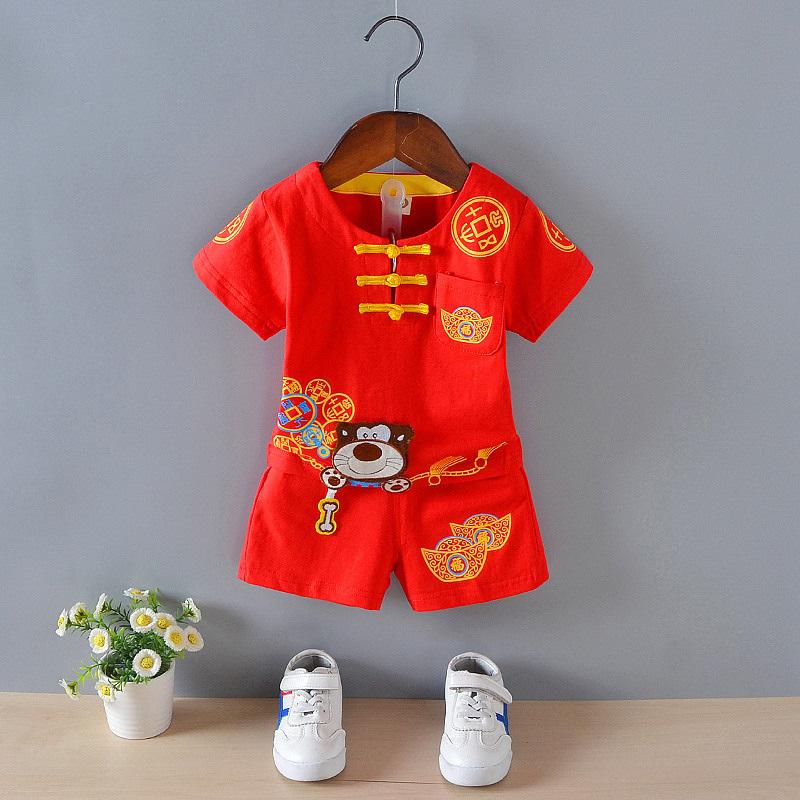 中国风婴儿服周岁汉服唐服4唐装抓阄宝贝网红帽子6女宝宝儿童用品