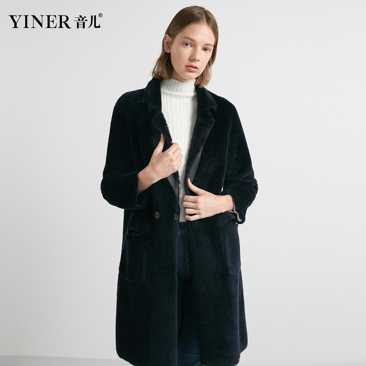 Cửa hàng Reverse-YINER Yiner 2019 mùa đông mới trước và sau mặc áo khoác lông cừu - Faux Fur
