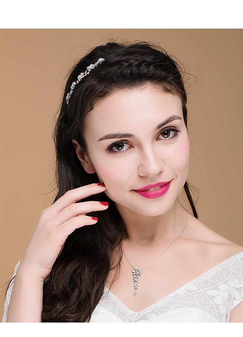MoferMagic美菲麦 甜美花朵发箍气质花环发带女简约大气宴会头箍商品详情图