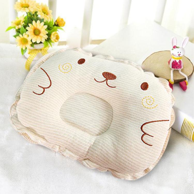 Новый необработанный на младенца Детская подушка 0 детские Правильный тип головы 3 лет воздухопроницаемый 6 месяцев коррекция против головы подушка 1 год