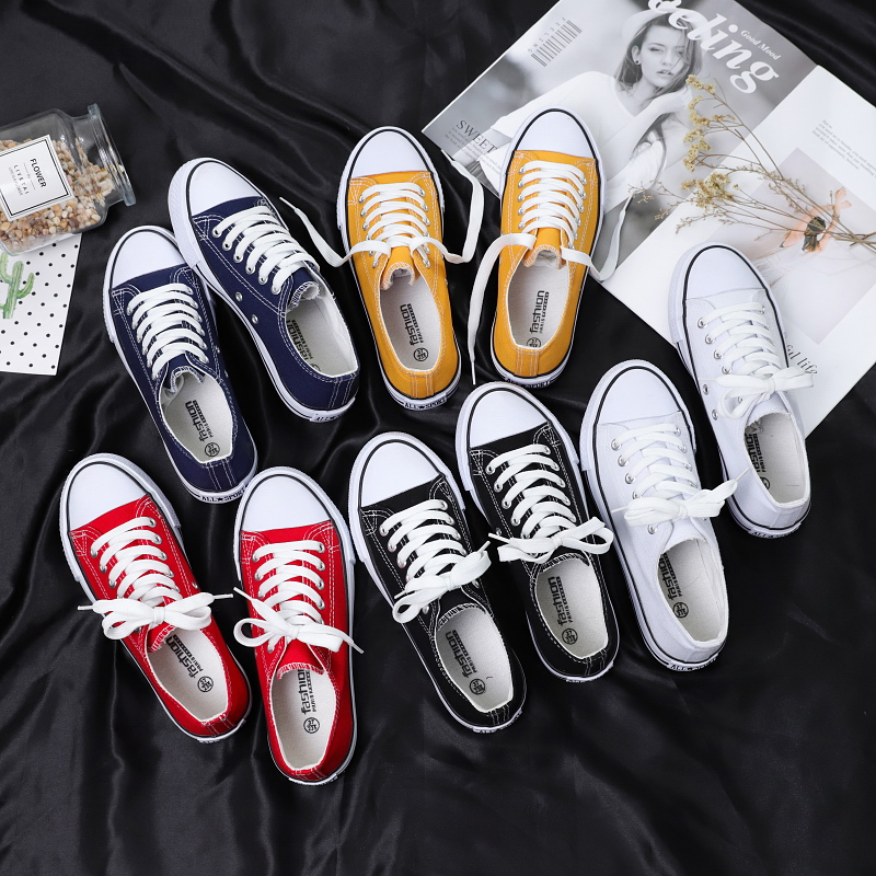 2021 spring new versatile men's canvas shoes men's shoes Korean cloth shoes fashion board shoes low top students shoes