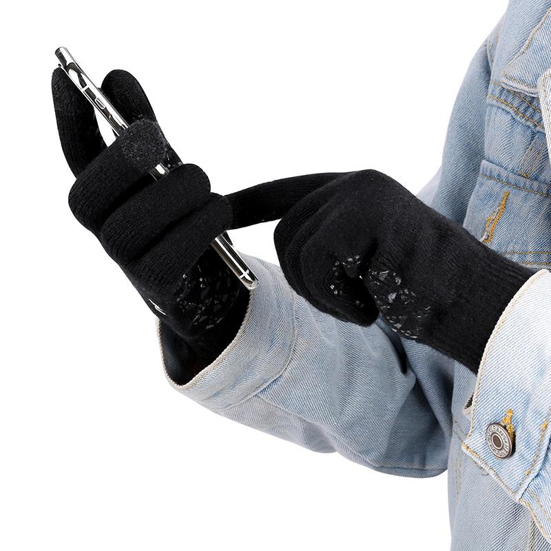 加绒触屏手套男女冬季保暖加厚情侣学生吃鸡防寒摩托骑行车手套