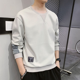 Long-sleeved T-shirt men's spring trend bottoming shirt body shirt shoes shoes spring autumn loose sports sweater