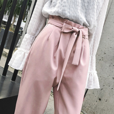 Seven princess falling feeling female carrot pants waist new autumn fashion students loose, casual trousers straight jeans child