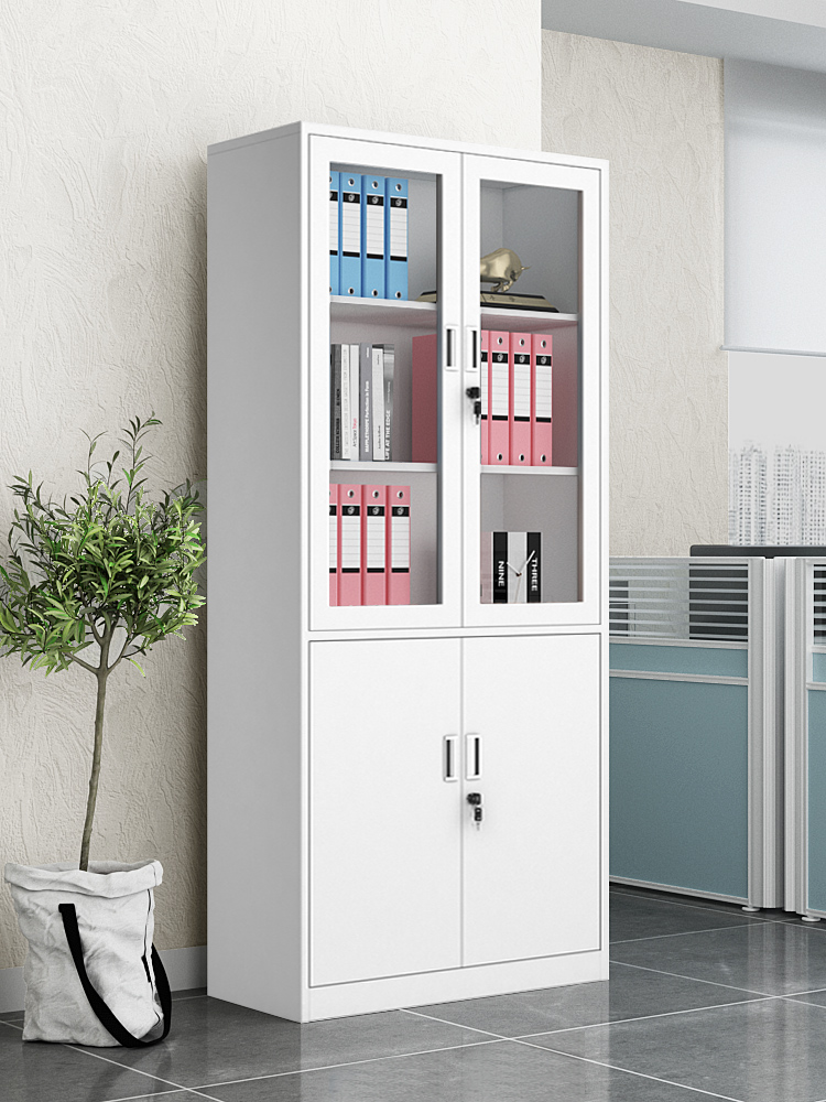 Steel office iron file cabinet Data file bookcase Locked security certificate cabinet Low cabinet Household storage cabinet