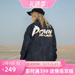 PCMY Fork Fork Full Printed Jacket Spring and Autumn Loose Jacket National Tide Brand Coach Personality Hip Hop Men and Women Lovers