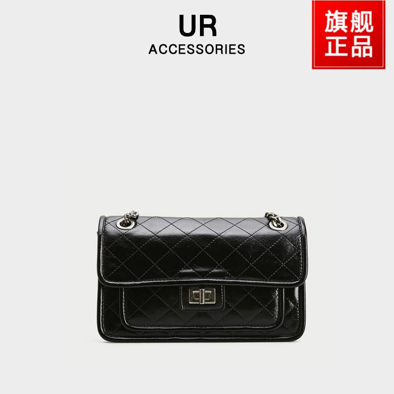 UR官方包包2021新款时尚通勤包单肩菱格链条包高级感休闲斜挎包女