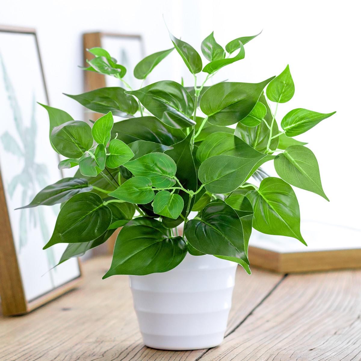 Mô phỏng củ cải xanh trồng trong nhà mô phỏng cây nhựa nhỏ trong chậu trang trí cây xanh mô phỏng hoa giả cây củ cải xanh - Hoa nhân tạo / Cây / Trái cây