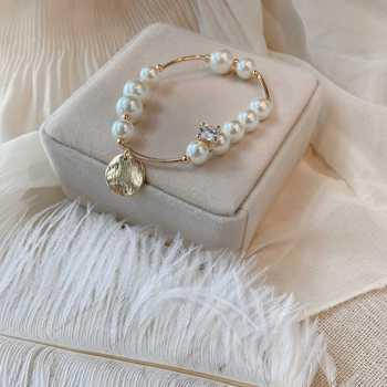 韩国东大门进口珍珠14k金手链女