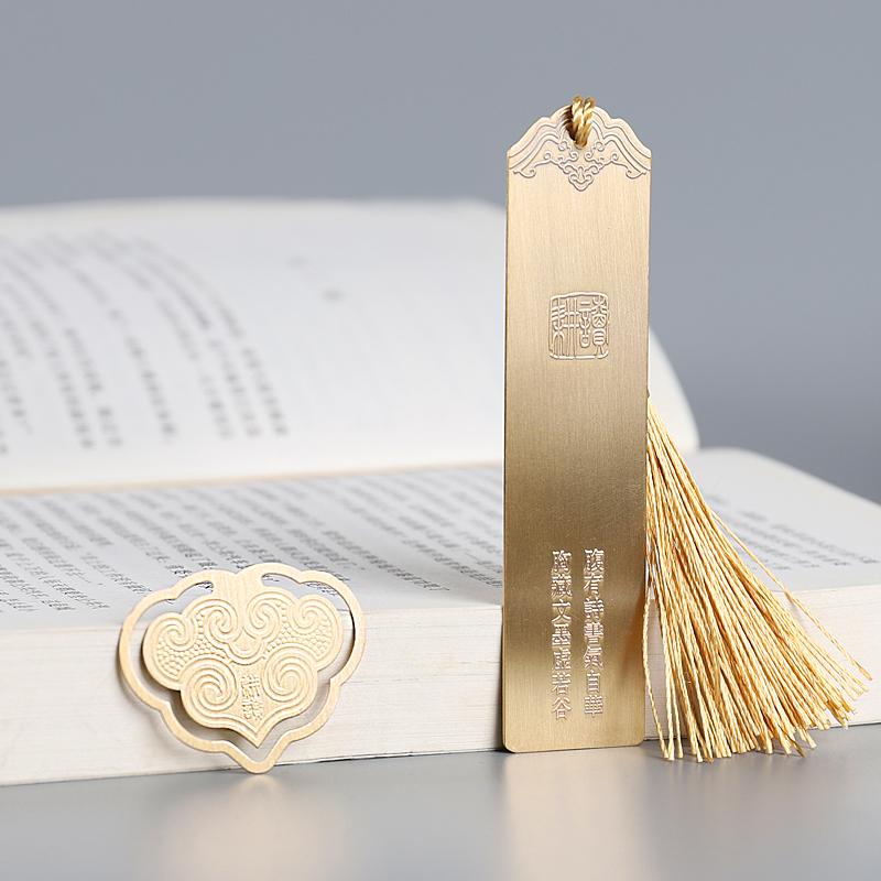 金属黄铜定制古典中国风学生礼品用创意diy书签礼物文创书签刻字