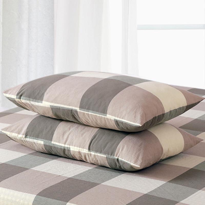 一对装全棉枕套水洗棉纯棉枕头套双人100%加厚单人成人枕芯套女