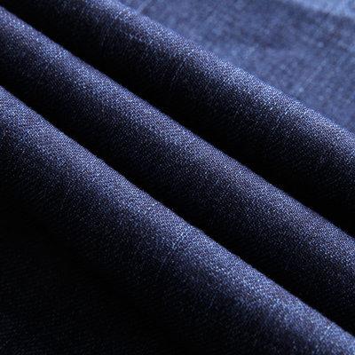 Trăm vòng quần jeans nam mùa hè phần mỏng kinh doanh bông bom jeans ba chiều cắt rửa mèo quần