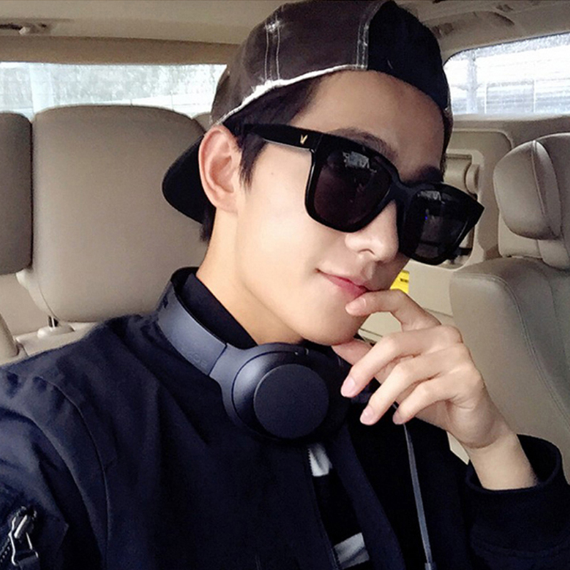 60868642af This year s popular large polarized sunglasses men sunglasses big face  frame tide frog mirror Fat Face driving glasses eye