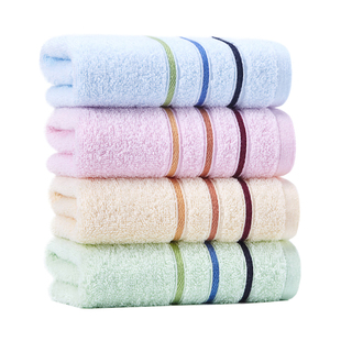 【洁丽雅】纯棉加厚大毛巾4条装