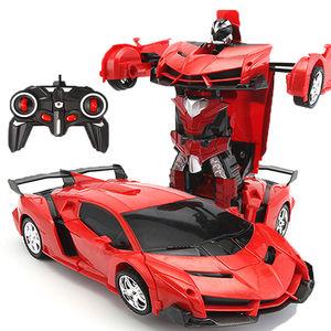 变形遥控汽车玩具车充电动金刚机器人男孩儿童玩具车4069gs