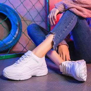 宾线明星同款百搭小白鞋老爹鞋女鞋