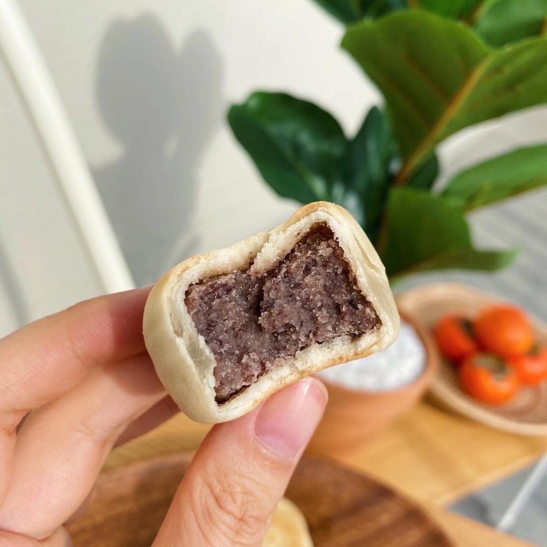 二盒麦小白冰皮绿豆饼红豆饼绿豆糕纯手工老式馅饼盒糕点零食详细照片
