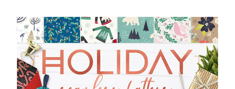 华丽花卉复古圣诞节平铺无缝背景花纹矢量背景元素图案设计素材插图(1)