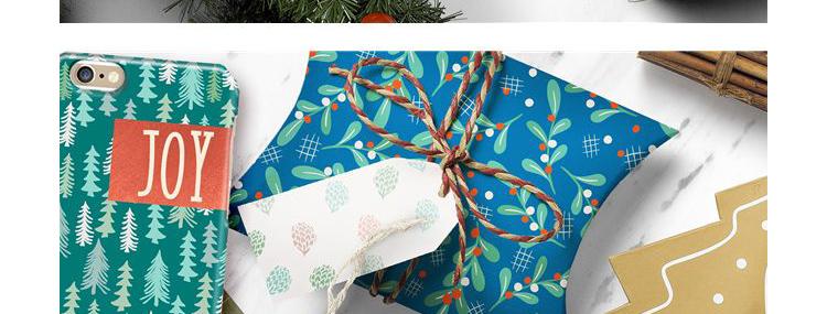 华丽花卉复古圣诞节平铺无缝背景花纹矢量背景元素图案设计素材插图(15)