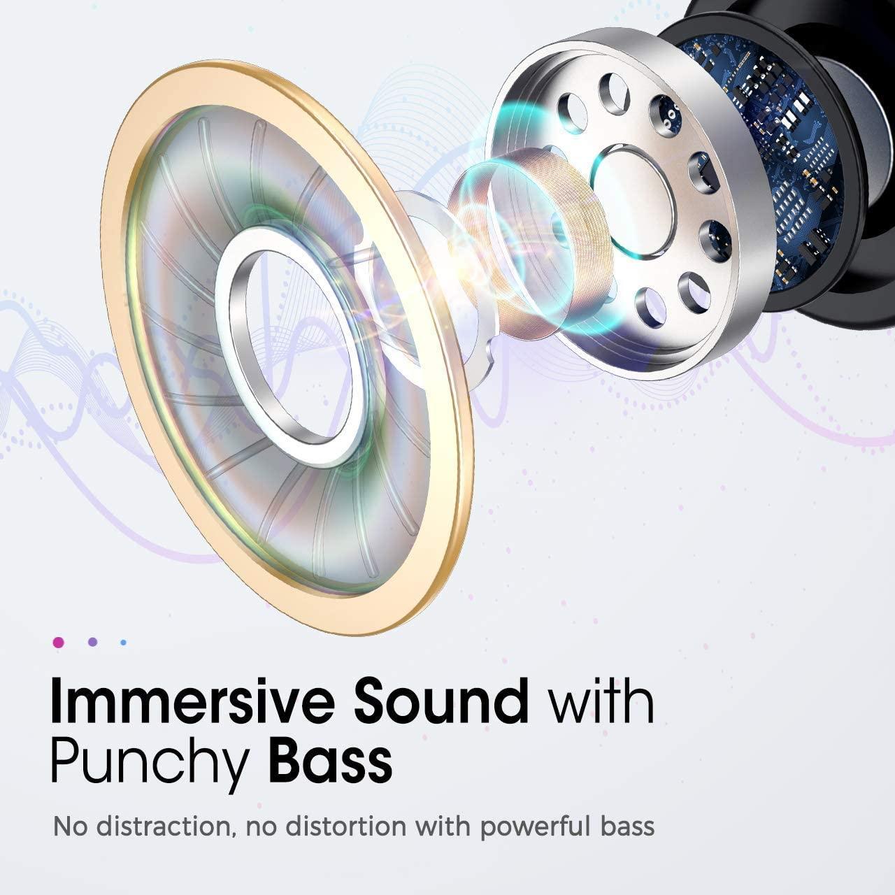 亚马逊尾货真无线TWS蓝牙5.0 入耳式耳机长续航IPX8防水支持无线充电