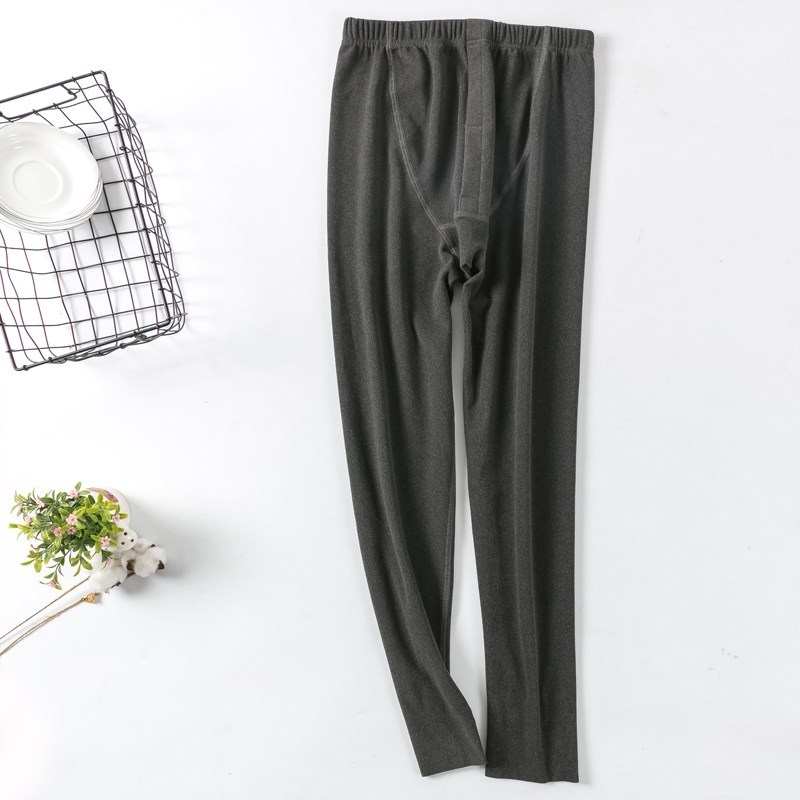 秋裤a单件裤加绒冬季单件裤一体男士修身抓绒无痕薄款内穿打底加厚