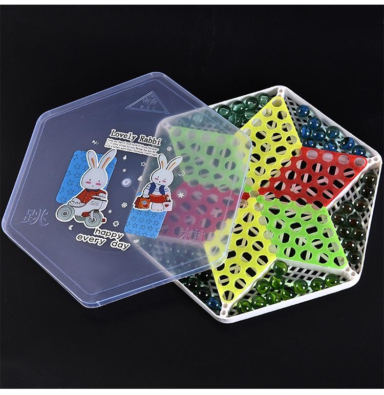 跳棋益智玩具亲子活动桌面游戏玻璃珠五子棋学生开学奖品生日礼品详细照片