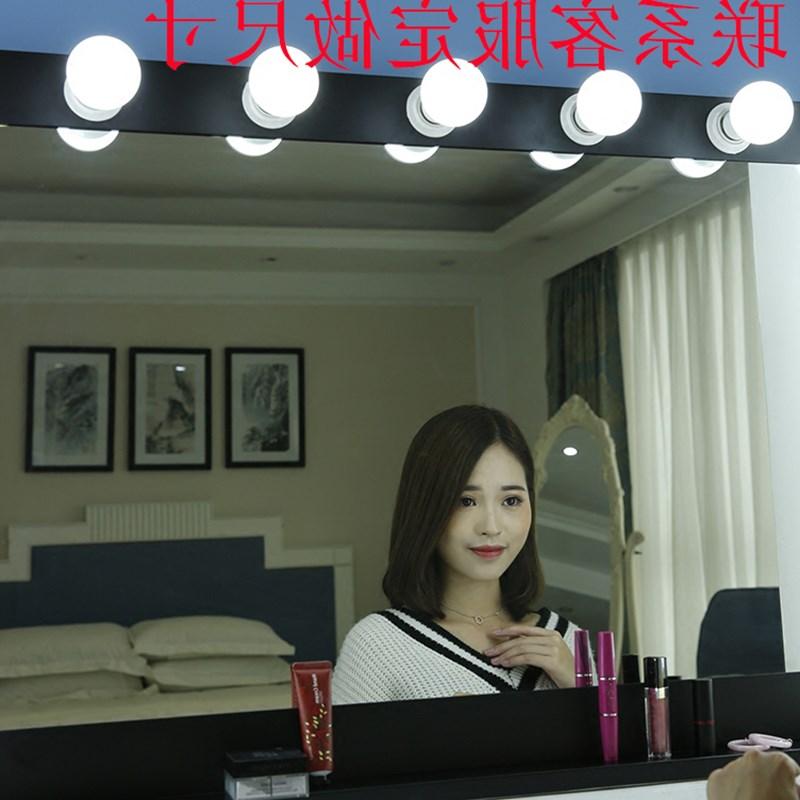 影楼台式带灯LED化妆镜大发廊化妆镜梳妆镜大号镜子尺寸定制挂墙