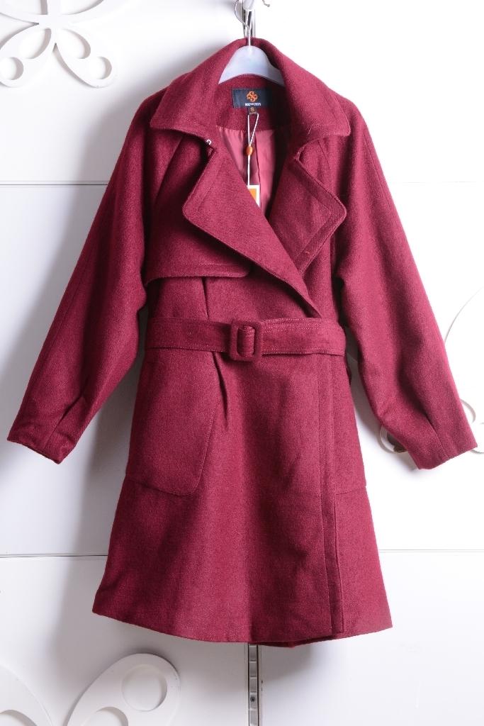 茜雅朵朵专柜正品2015冬季新款毛呢子外套大衣1154DD410 原799