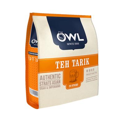 【进口】OWL猫头鹰咖啡手工拉茶速溶奶茶粉20条340G新加坡三合一