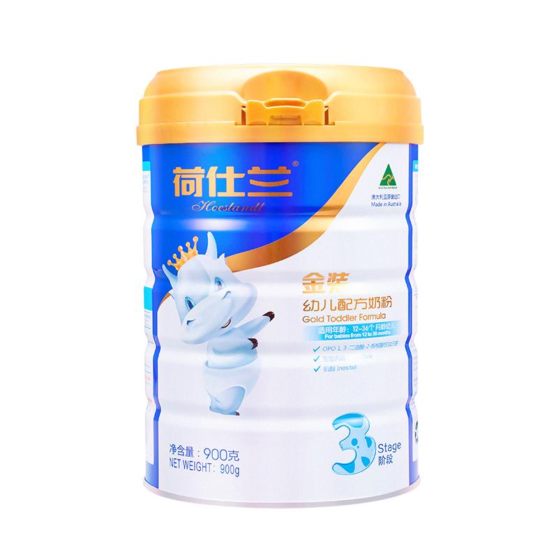 荷仕兰 (Hoeslandt)OPO金装幼儿配方奶粉3段12-36月900g一罐