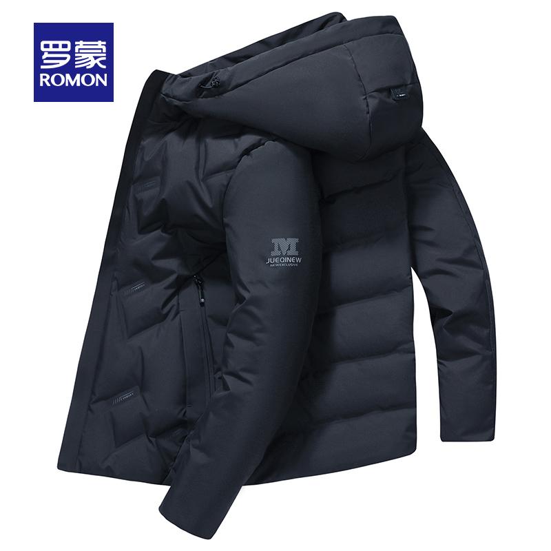 罗蒙冬季羽绒男短款羽绒外套