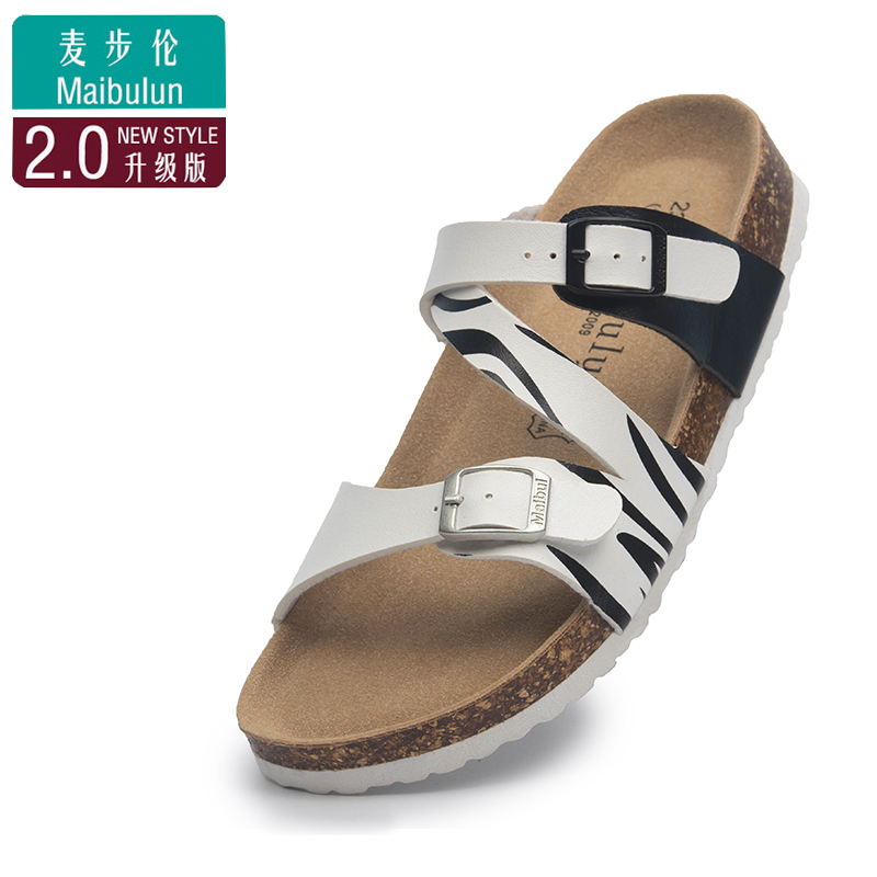 25291161d818 Cork slippers beach shoes couple shoes sandals flat non-slip double buckle  increased shoes hole · Zoom · lightbox moreview · lightbox moreview ...
