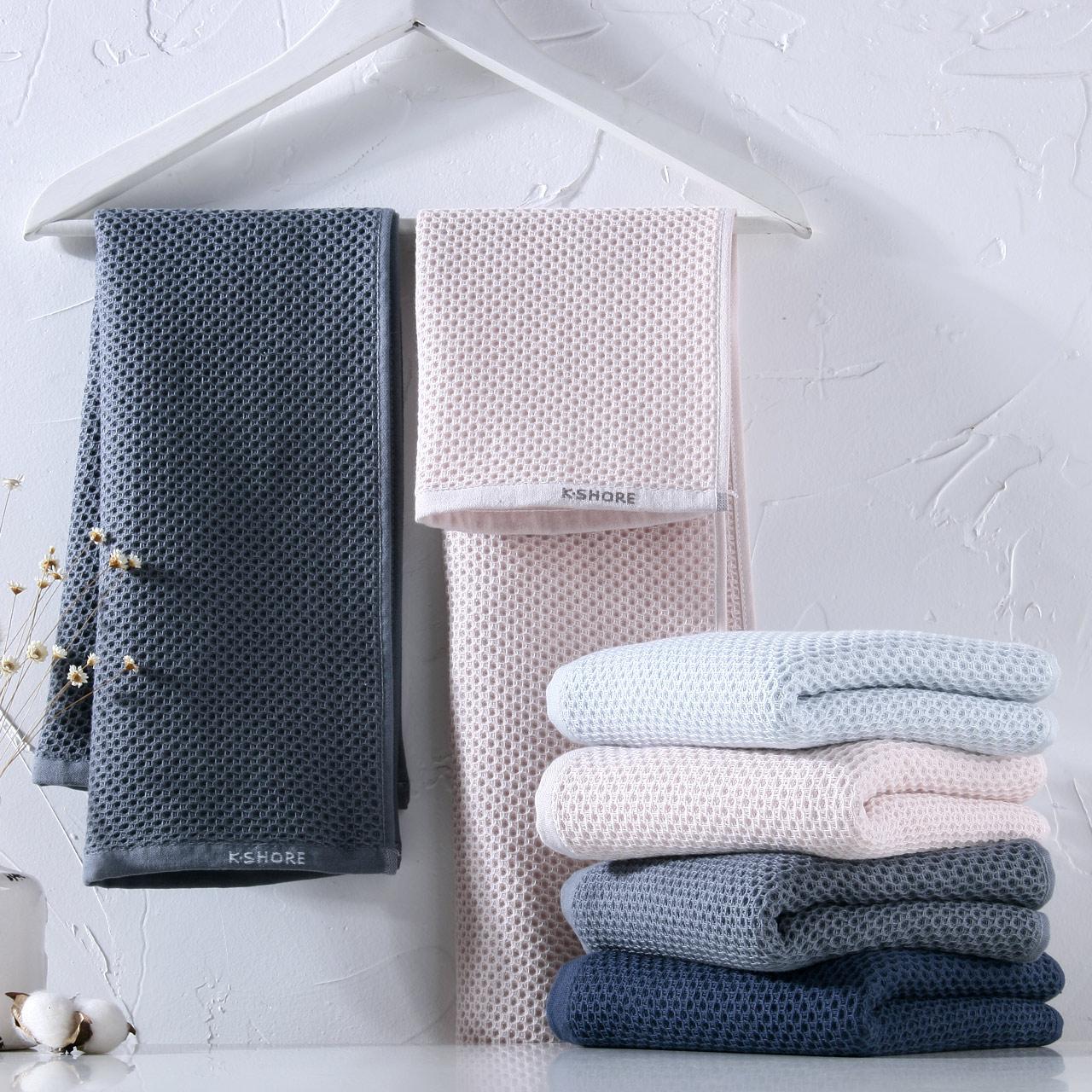 白金長絨棉、SPA級柔軟:3條 70x33cm 金號 純棉A類紗布蜂巢大毛巾
